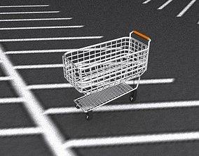 1950s Shopping Cart 3D model