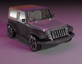 3D model Wrangler Jeep 2012