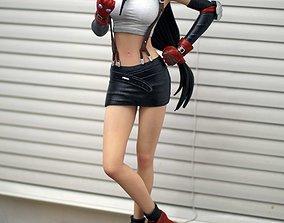 Tifa Lockhart Final Fantasy VII Fanart Statue 3d 1