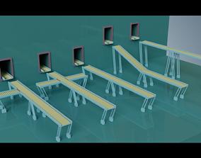 3D model Simple Conveyor Belt