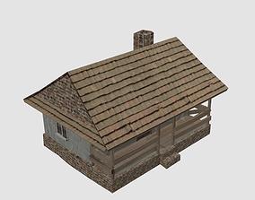 3D asset Old village house