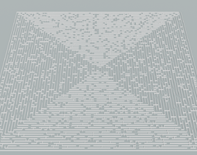 3D model Low poly large square maze