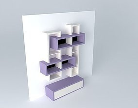 3D model Modern purple wall furniture