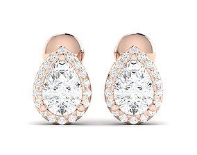 jewellery Women earrings 3dm render detail
