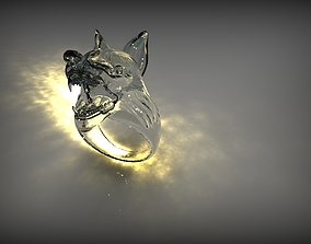 3D print model Wolf Head Ring