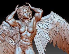 Body builder angel 3d model