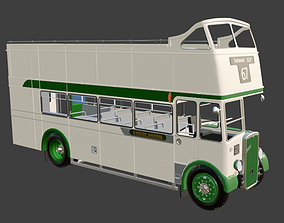 3D model 1953 Bristol KSW 5G Open Top Double Decker Bus