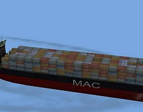 3D asset Container Ship