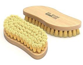 Wooden Scrub Brush 3D model