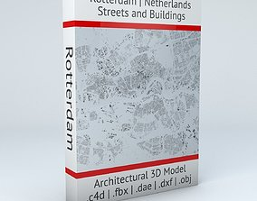 3D model Rotterdam Streets and Buildings