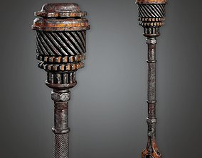 PAM - Post Apocalyptic Iron Mace - PBR Game Ready 3D asset