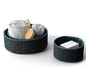 Bath Accessories in Baskets 3D