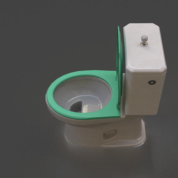 Toilet _ Low-Poly PBR 3D model