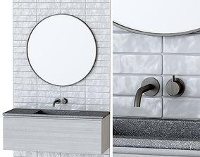 Furniture set for bathroom B1 3D model