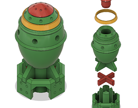 tabletop Micro- Mini-nuke 3d-printable digital model