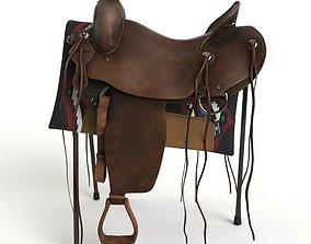 Western saddle 3D model