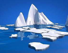 3D model Low Poly Ice Alska