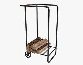 Firewood cart 3D