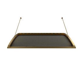 Motorized Pergola 6 brass furniture matte 3D