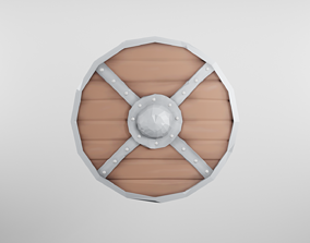 Viking Shield Stylized 3D model