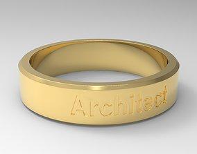 Architect Ring Gold 3D print model