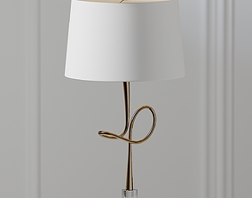 3D model Hensley Gold Clear Table Lamp