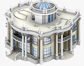 Villa 3D model architectural