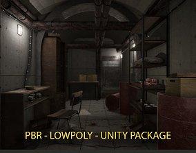 3D asset PBR Bunker - UNITY READY