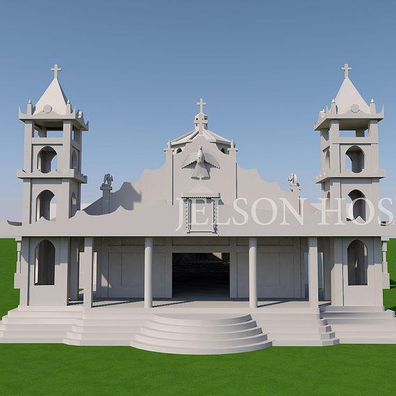 urumpirai st micheal church  3d model