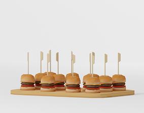 3D model Mini Burgers