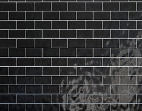 3D model Tiles set Geometry Pattern Black
