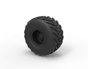 3D print model Diecast Offroad wheel 6