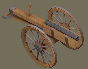 3D asset game-ready Medieval cannon