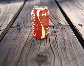 3D model Coke Can With texture