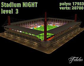 Stadium Level 3 Night 3D asset