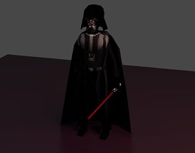 Darth Vader 3D model animated low-poly