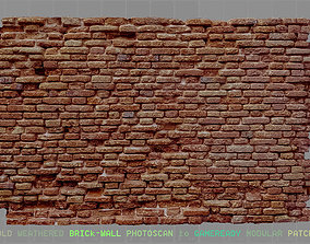 old weathered brick wall photoscan 3D model