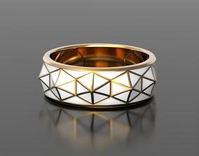 jewelry Geometry enamel ring 3D printable model