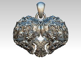 3D print model Glamor Modern Crazy Love Heart