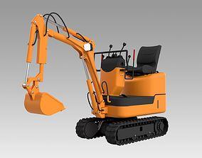 3D model Mini excavator Komatsu PC09-1