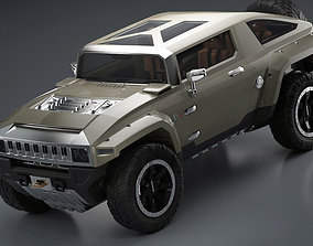 3D Car 4x4 Vehicle with openable Doors and detachable