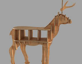 3D model diy CNC vector plans for deer coffee table