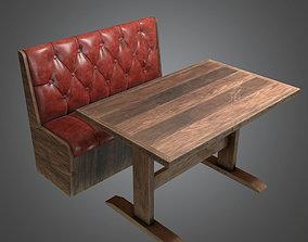 3D model Booth Table Dive Bar - DVB - PBR Game Ready