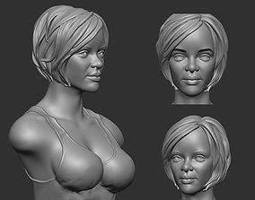 Rihanna bust 3D printable model