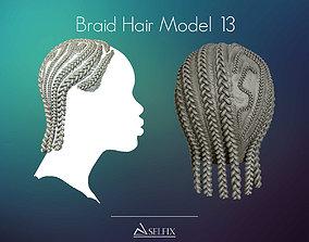 3D printable model Braid Hairstyle 13