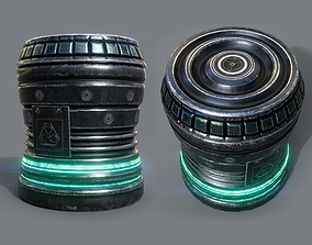 Energy cell or Futuristic grenade - 7 Color 3D model