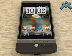 3D model HTC Hero smartphone - 2009 - Black