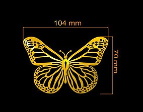 3D printable model flying butterfly