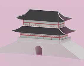 Sungnyemun Namdaemun Gate 3D asset
