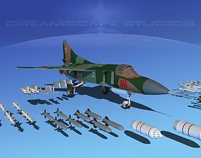 3D Mig-23 Fighter Bulgaria
